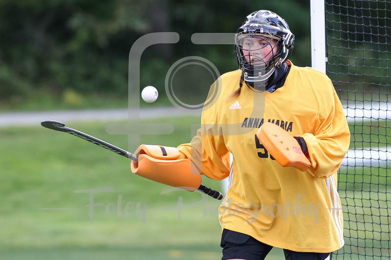 Sep. 02, 2021; Paxton, Massachusetts, USA;  during a non conference matchup between Worcester State and Anna Maria College. The Lancers won the game 5-0 over the Amcats at Caparso Field. Photo by Foley-Photography.