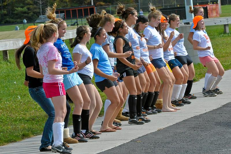 bchs girls var fld hockey Pep Rally practice 2009-10-6-3