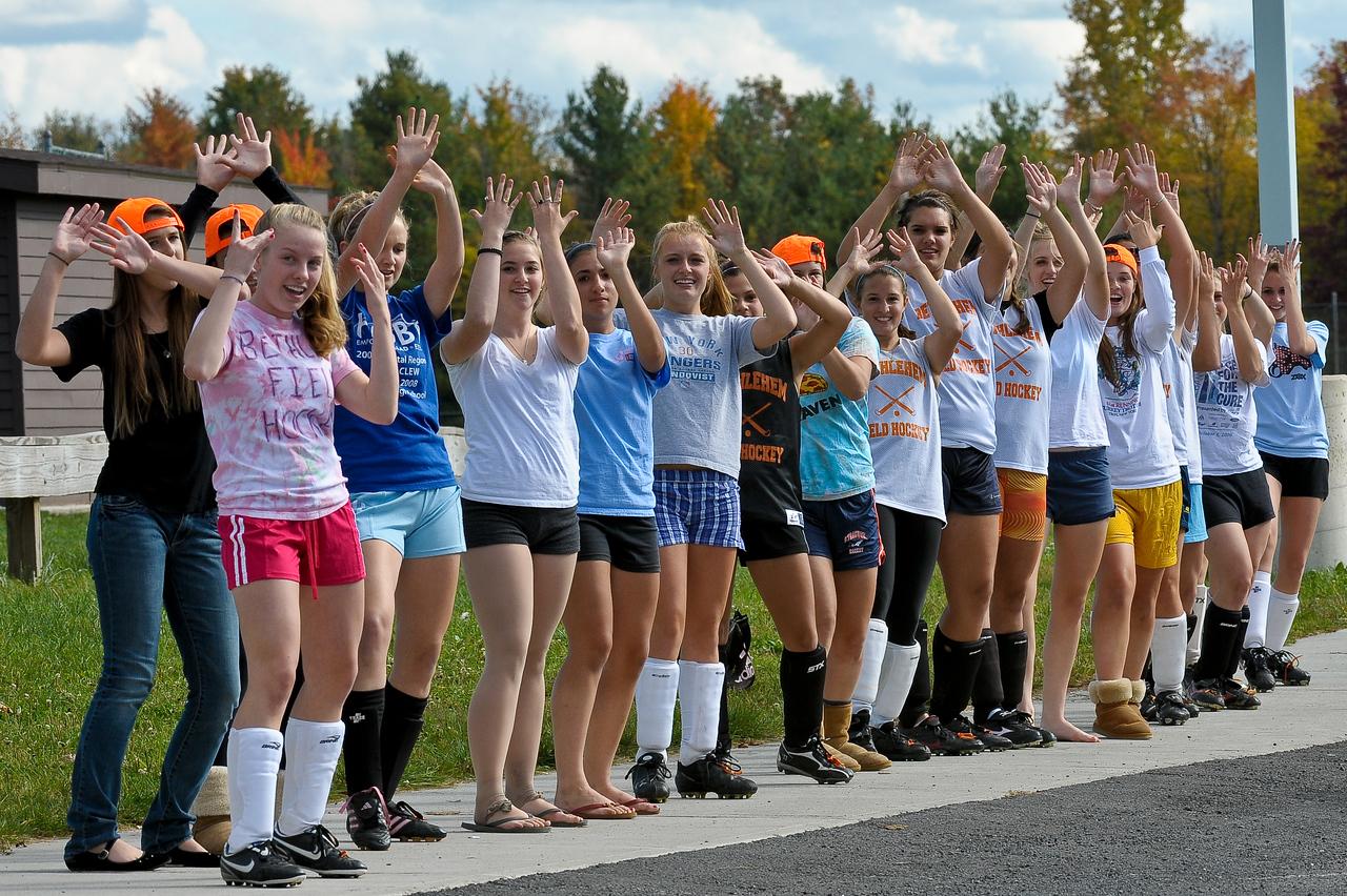 bchs girls var fld hockey Pep Rally practice 2009-10-6-5
