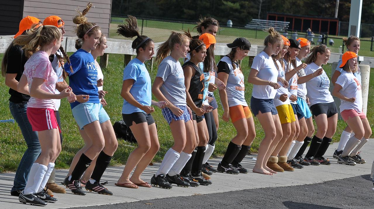 bchs girls var fld hockey Pep Rally practice 2009-10-6-8