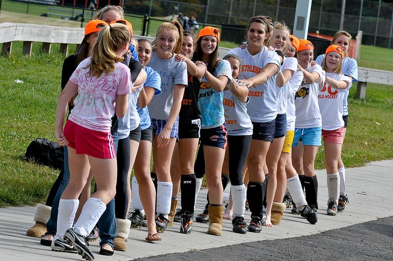 bchs girls var fld hockey Pep Rally practice 2009-10-6-4