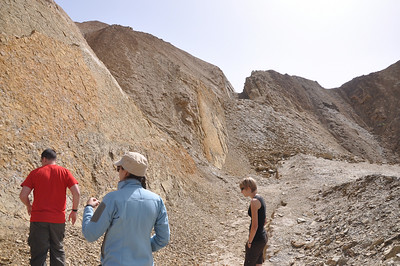 The hike up to the quarry is super-short and easy.  Here, Matt, Jessie, and Brenna are examining the old quarry face.