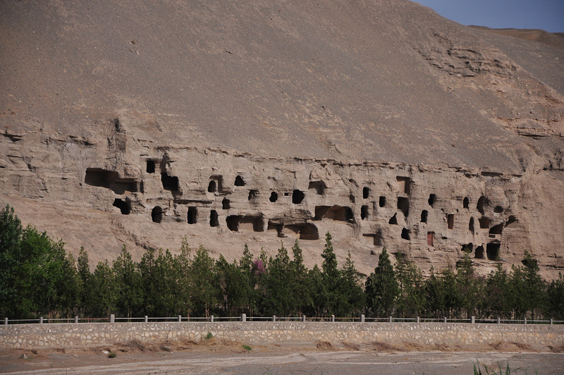 A close-up of the dwelling grottoes.