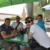After lunch at the grottoes, and before heading out, Matt, me, Jack, and Jessie took a little break in the shade while others spent a few minutes in the museum outside the site.
