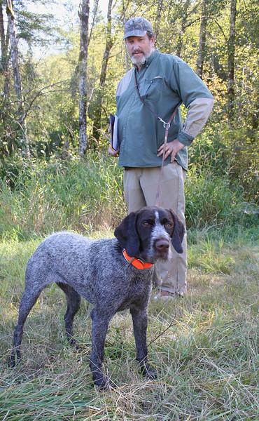 Ava of Blackberry Briar with owner Steve Grieser