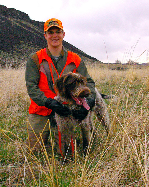 Bambino of Wolf Fork Canyon with owner Zeb Breuckman