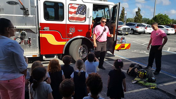 Fire Truck Visit to PreK3 2017