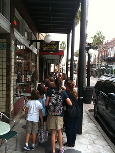 Students outside Ybor Cigars Plus