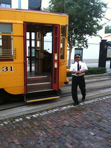 Ybor Trolley and Driver