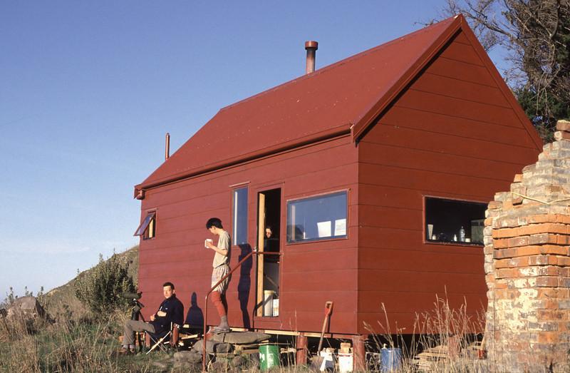 At the hut