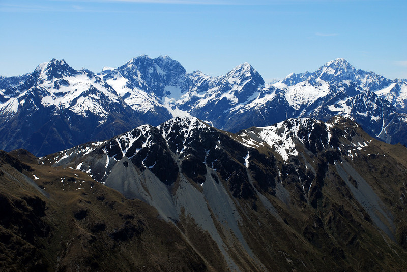 Earl Mountains and Mt Christina from the Livingstone Range