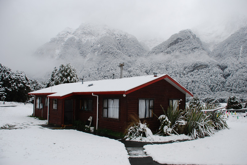 Knobs Flat House after a November snowfall
