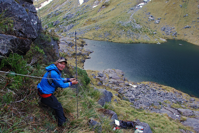 Mistnet site high above Lake South America