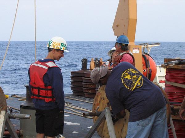 Deploying buoy rope