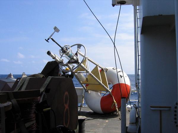 A TAO buoy awaiting deployment