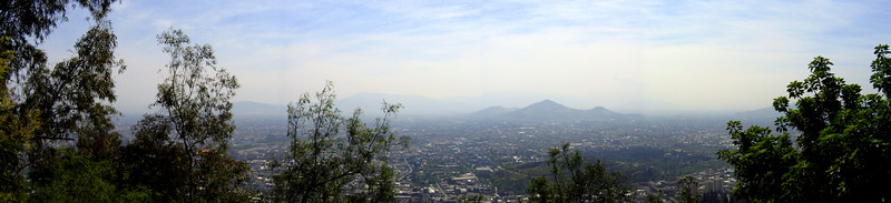 View of Santiago from Parque Metropolitano