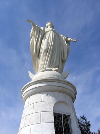 The Virgin Mary on top of Parque Metropolitano