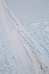 A crack in the fast ice in the Laresn B embayment