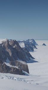 Looking down Flask Glacier