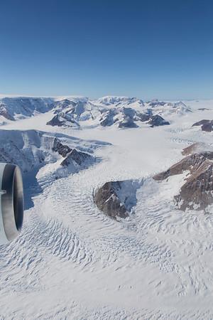 The view north from Hektoria Glacier