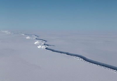 Northern portion of the crack in the Larsen C ice shelf