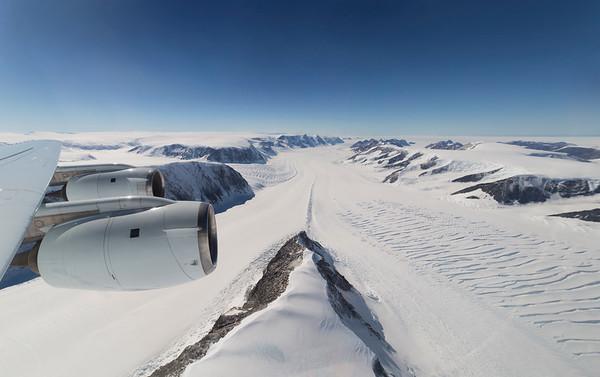 Looking down upper Crane Glacier