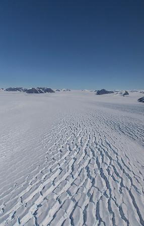 Looking up Leppard Glacier
