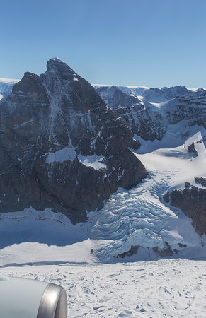 An icefall next to Mt. Ahab; near the Melville Glacier terminus