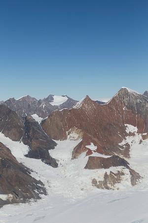 Mountains along Crane Glacier