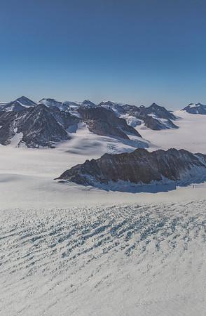 Fluke Ridge and Flask Glacier crevasses