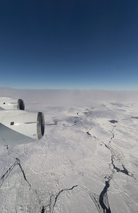 Sea ice floes just off Larsen C ice shelf