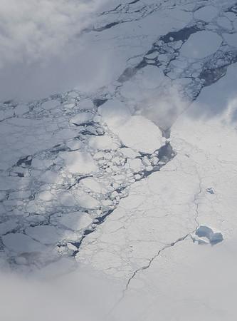 Sea ice and icebergs near Burke Island