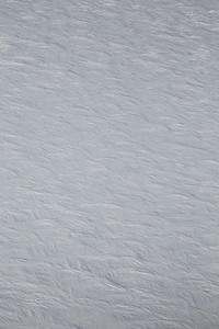 Snow dunes along the flightline