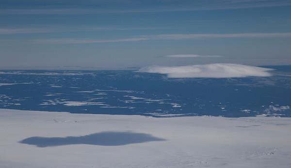 A lone cloud shadow on Pine Island Glacier