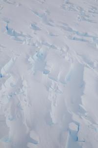 Crevasses near the center-line of Thwaites Glacier