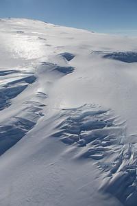 Crevasse fields on Mt. Takahe's eastern flanks