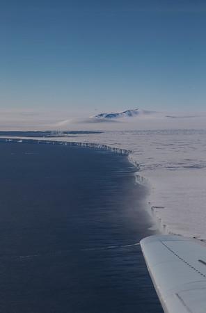 Pine Island Ice Shelf Terminus and Webber Nunatak
