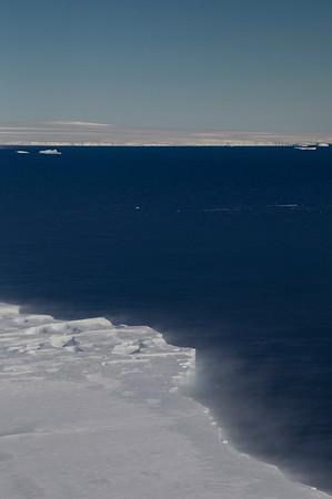 Pine Island Ice Shelf edge and Pine Island Bay