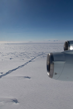 A rift forming across Pine Island Ice Shelf