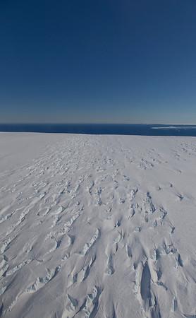 Crevasses on the Pine Island Ice Shelf