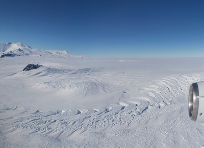 The Edge of Pope Glacier with Mount Murphy