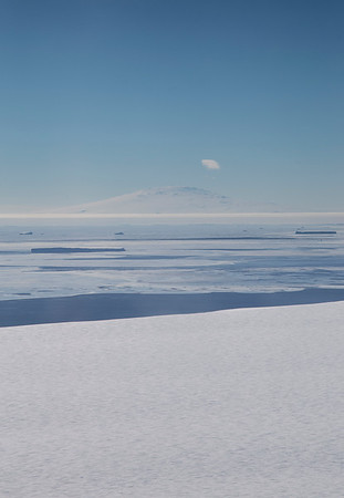 The Getz Ice Sheet, sea ice & Mount Siple in the distance