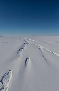 Crevasses on DeVicq Glacier
