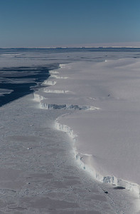 Sea ice along the front of the Getz Ice Shelf