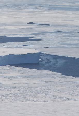 Sea ice and an iceberg off the Getz Ice Shelf