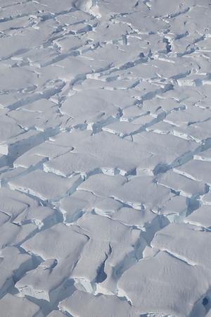 Crevasses on Thwaites Glacier