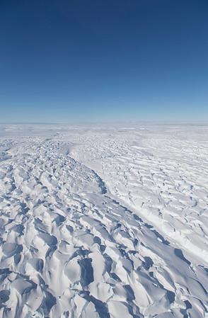 Crevasses on Thwaites Glacier Tongue