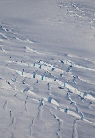 Crevassing on Land Glacier