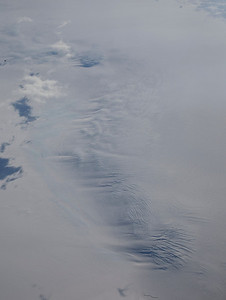 Snow and ice flow over buried topography