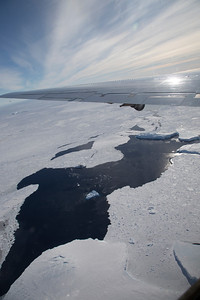 Sea ice along the front of Hull Glacier